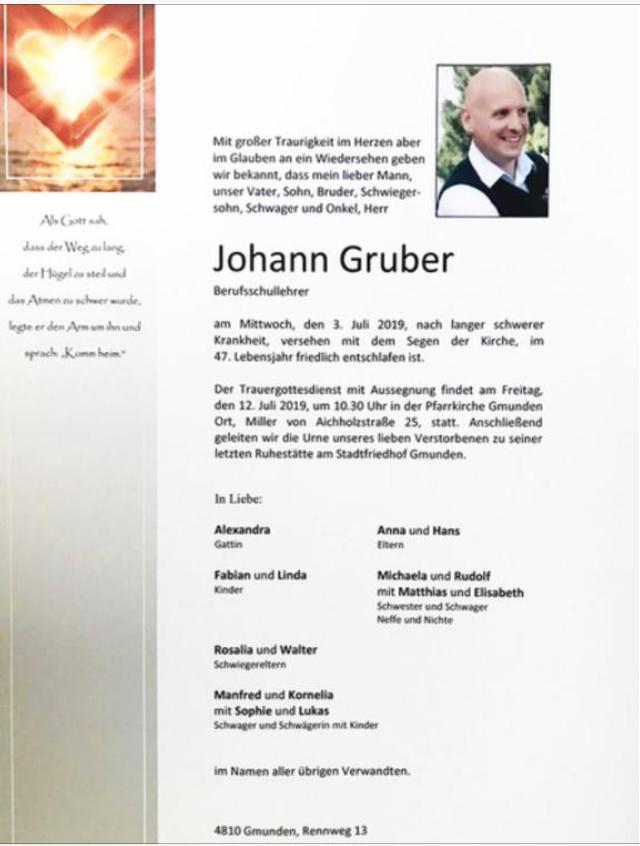 Johann Gruber (1973-2019)